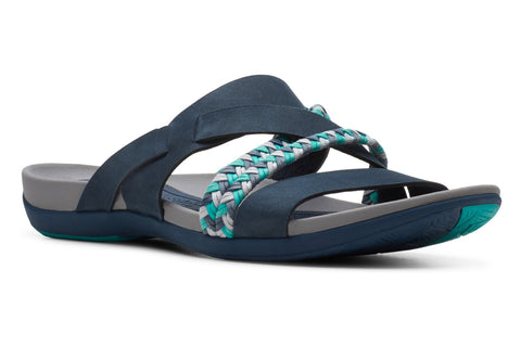 Clarks Tealite Slide Ladies Sandal Navy