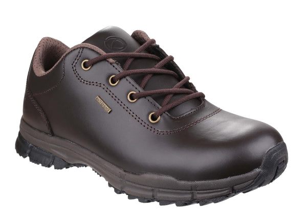 Cotswold Alderton Womens Waterproof Lace Up Walking Shoe Brown
