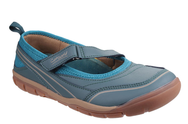 Cotswold Appleton Womens Touch Fastening Casual Shoe Blue