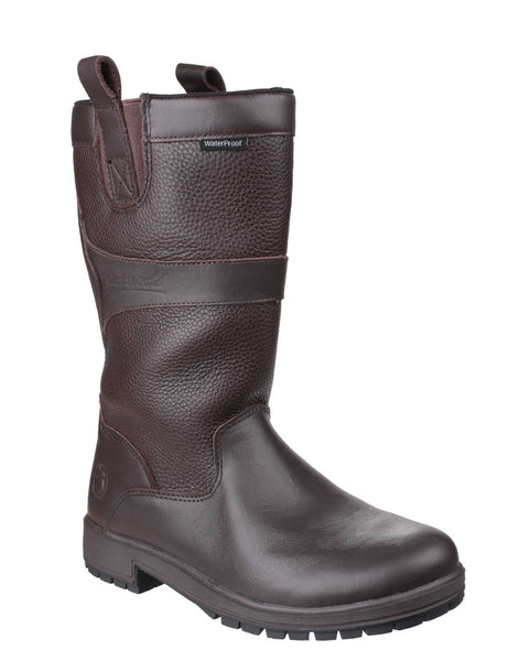 Cotswold Ascot Womens Waterproof Mid Calf Length Country Boot Brown