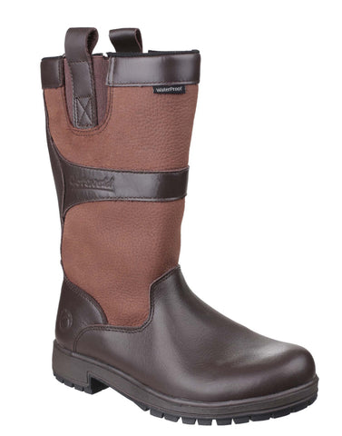 Cotswold Ascot Womens Waterproof Mid Calf Length Country Boot Walnut