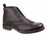 Cotswold Avening Mens Brogue Detail Lace Up Chukka Boot Brown