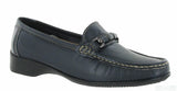 Cotswold Barrington Womens Slip On Moccasin Shoe Navy