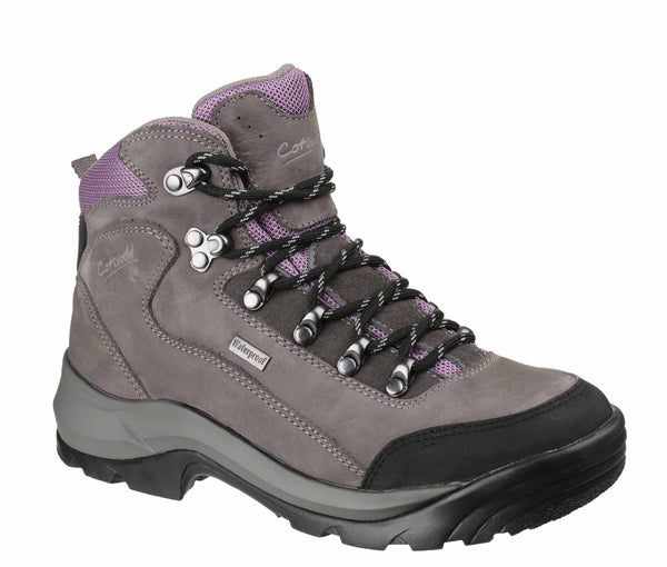 Cotswold Bath Womens Waterproof Lace Up Walking Boot Grey