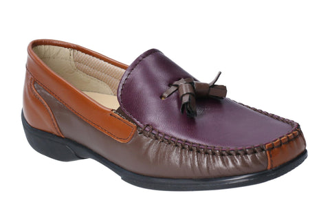 Cotswold Biddlestone Womens Extra Wide Fit Slip On Moccasin