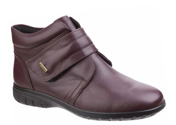 Cotswold Chalford Womens Waterproof Touch Fastening Casual Boot Bordo