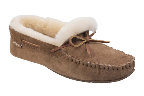 Cotswold Chastleton Mens Suede Leather Moccasin Slipper Tan