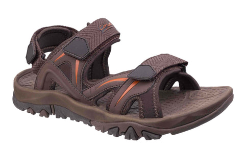 Cotswold Cutsdean Mens Touch Fastening Casual Sandal Brown