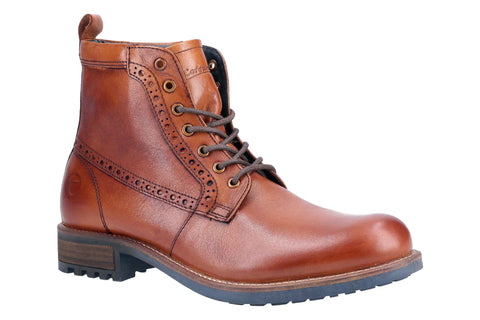 Cotswold Dauntsey Lace up Boot Tan
