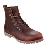 Cotswold Elm Womens Lace Up Casual Ankle Boot Brown