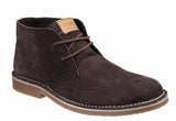 Cotswold Fairford Mens Suede Leather Lace Up Desert Boot Brown