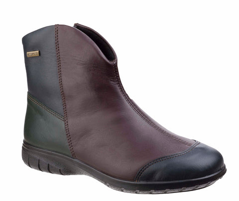 Cotswold Glympton Womens Waterproof Zip Up Leather Ankle Boot Multi