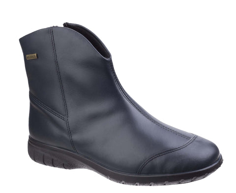 Cotswold Glympton Womens Waterproof Zip Up Leather Ankle Boot Navy