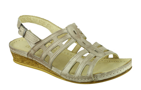 Cotswold Guiting Womens Leather Slingback Summer Sandal