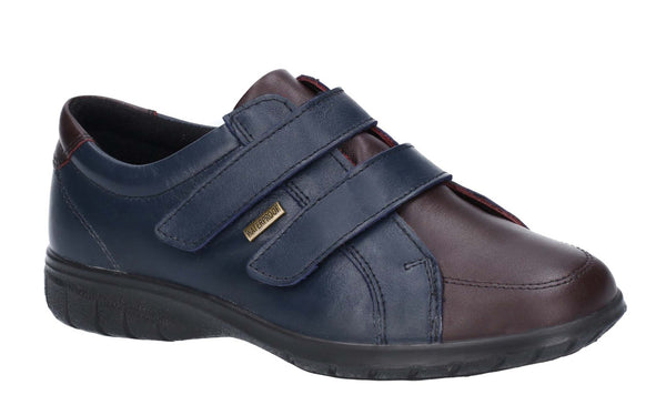 Cotswold Haythrop Womens Waterproof Leather Touch Fastening Casual Shoe