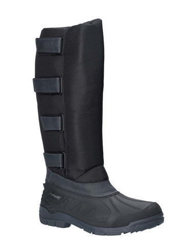 Cotswold Kemble Short Wellington Boot Black