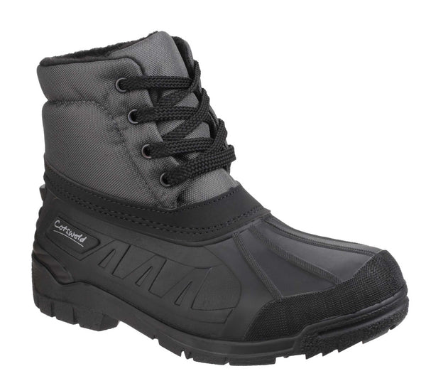 Cotswold Leoni Water Resistant Warm Lined Lace Up All Weather Boot Grey