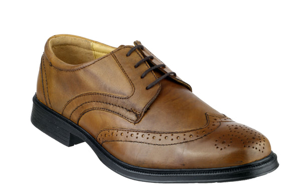 Cotswold Mickleton Mens Brogue Detail Lace Up Shoe Tan