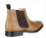 Cotswold Nettleton Mens Pull On Brogue Detail Chelsea Boot