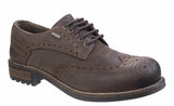 Cotswold Oxford Mens Waterproof Brogue Detail Country Shoe Brown