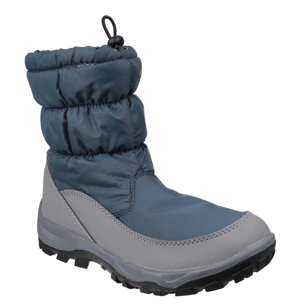 Cotswold Polar Womens Pull On Waterproof Snow Boot Blue