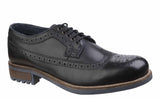 Cotswold Poplar Mens Brogue Detail Lace up Shoe Black