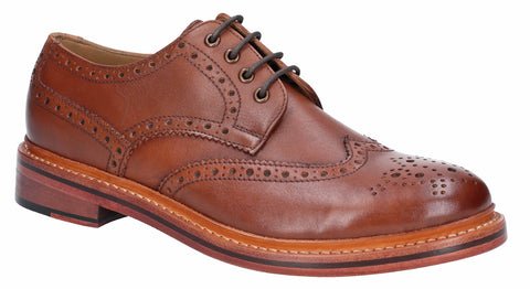 Cotswold Quenington Mens Leather Brogue Shoe