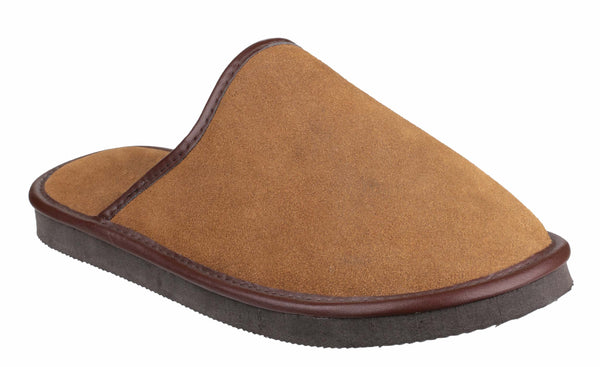 Cotswold Reg Mens Suede Leather Mule Slipper Tan