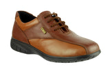 Cotswold Salford Womens Waterproof Lace Up Shoe Brown Multi