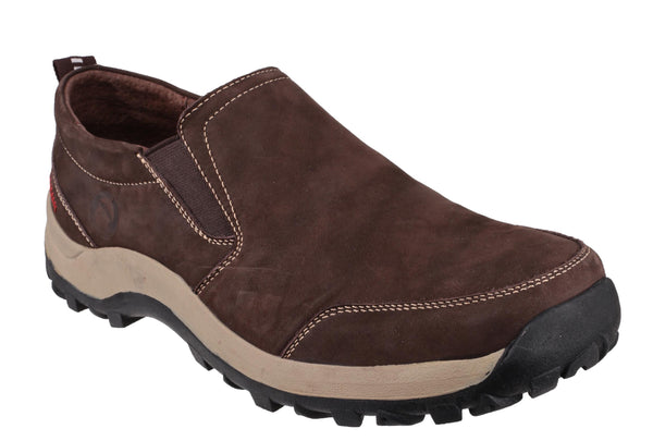 Cotswold Sheepscombe Mens Slip On Casual Shoe Brown