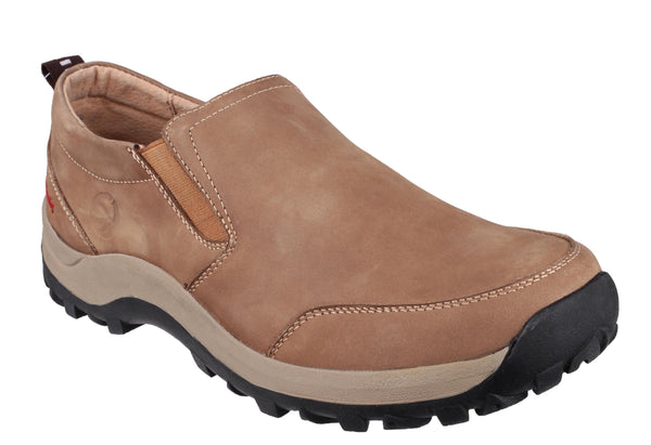 Cotswold Sheepscombe Mens Slip On Casual Shoe Tan
