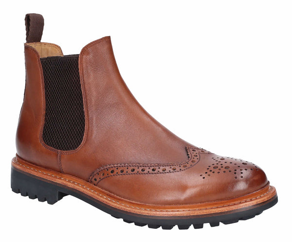 Cotswold Siddington Commando Mens Brogue Chelsea Ankle Boot