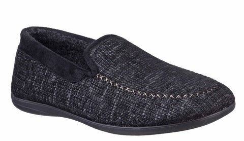 Cotswiold Stanley Mens Moc Toe Full Slipper