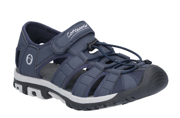 Cotswold Tormarton Closed Toe Fisherman Walking Sandal Blue