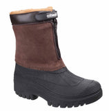 Cotswold Venture Womens Water Resistant Winter Boot Brown