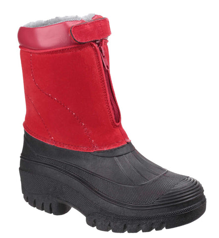 Cotswold Venture Womens Water Resistant Winter Boot Red