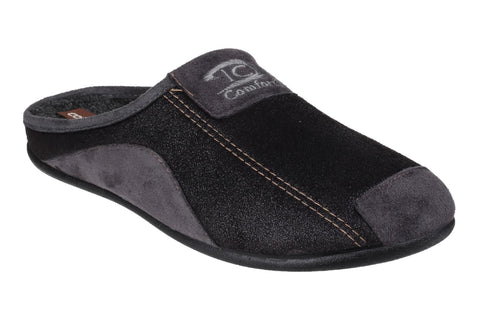 Cotswold Westwell Mens Mule Slipper Black