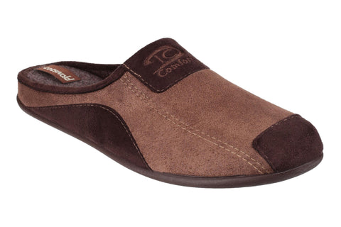 Cotswold Westwell Mens Mule Slipper Brown