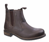 Cotswold Worcester Mens Waterproof Rugged Chelsea Boot Brown