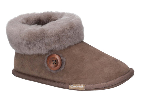 Cotswold Wotton Womens Sheepskin Slipper Bootie