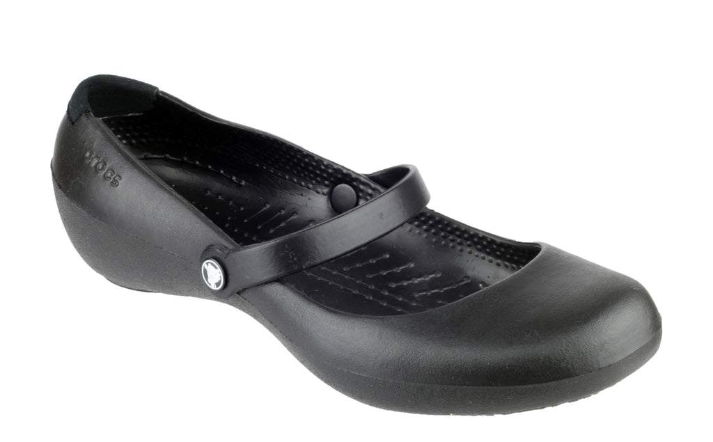 8d5b2bd980952 Crocs Alice Work 11050 Womens Mary Jane Slip On Shoe – Robin Elt Shoes