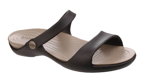 Crocs Cleo V 204268 Womens Open Toe Mule Sandal Espress