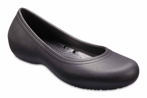 Crocs At Work 2 Flat 205074 Womens Slip On Shoe