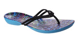 Crocs Isabella Graphic Flip 204196 Womens Toe Post Sandal Multi/Leop