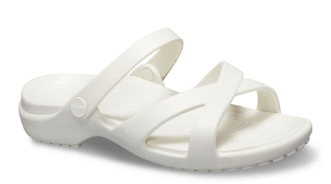 290f97484f4b Crocs Meleen Crosband Sandal Slip On Oyster