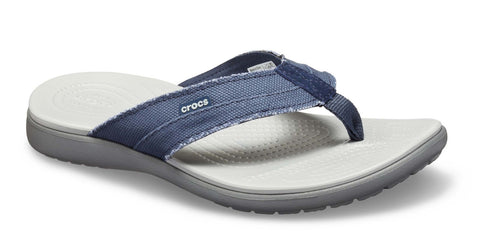 Crocs Santa Cruz Canvas Flip 205612 Mens Slip On Toe Post Sandal