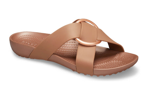Crocs Serena Cross 206099 Womens Slide On Sandal