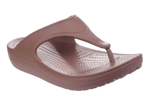 Crocs Sloane Platform Flip 200486 Womens Toe Post Summer Sandal Bronze