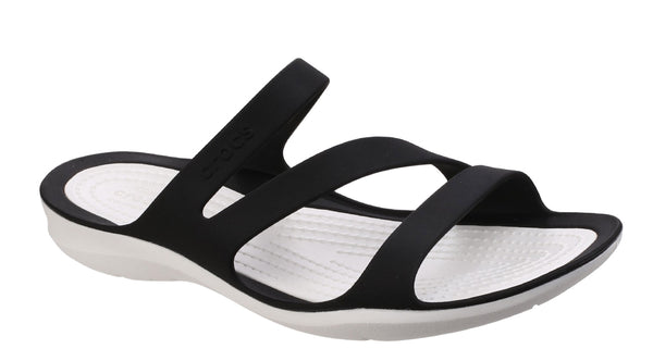 Crocs Swiftwater Sandal 203998 Womens Slip On Summer Mule Black