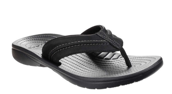 Crocs Yukon Mesa Flip 202594 Mens Summer Toe Post Sandal Black
